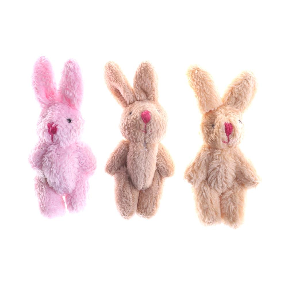 8cm Wedding Gift Joint Rabbit Bouquet DIY Pendant Plush Stuffed TOY Plush Animals Small Rabbit Stuff Toys
