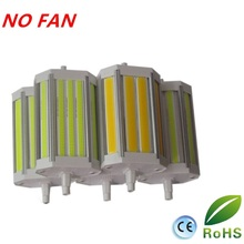 wholesale 10pcs/lot 118mm led R7S light 30W J118 dimmable COB  lamp with No noise cooling Fan replace 300W halogen