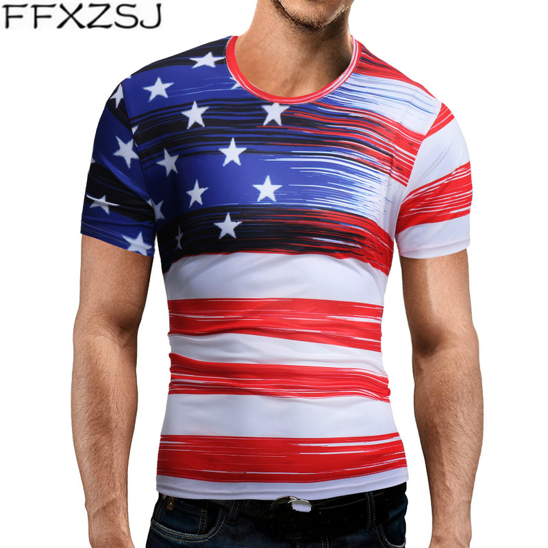 Men's summer 2019 Hot Sale Men Brand Short Sleeve Print T Shirt O-neck Slim Men T-Shirt Tops Fashion Mens Tee Shirt T Shirts