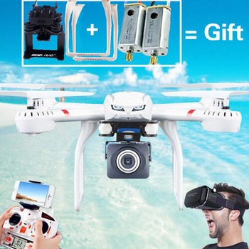 MJX X101 Professional Drones  wifi FPV Gimbal can Add C4015C4018C4016 720P HD Camera Real Time Video Drones with VR glasses remote control charging helicopter