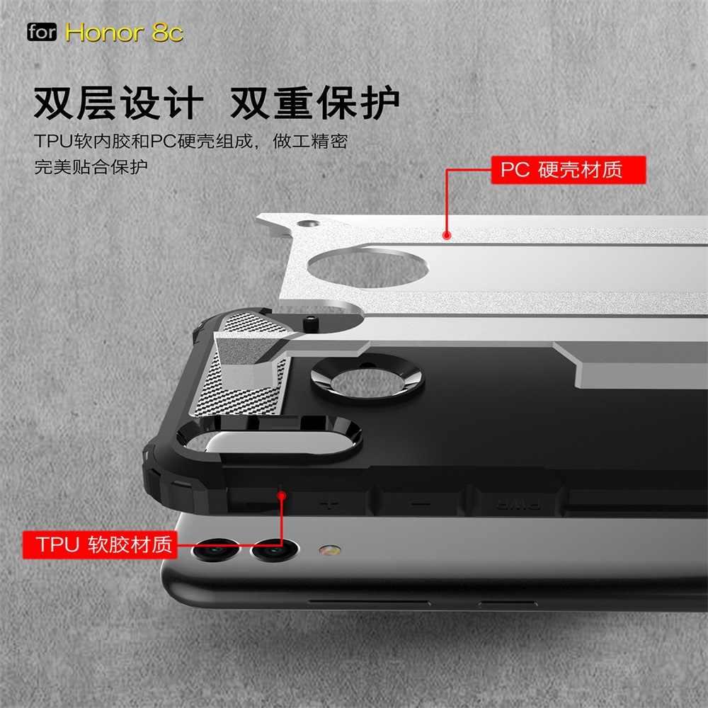 Funda para Huawei Honor 8C a prueba de golpes armadura dura PC funda de silicona para Honor 8X suave TPU funda de teléfono coqu