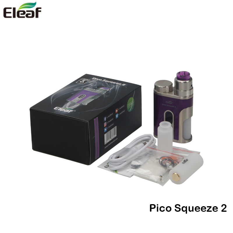 Original Eleaf Pico Squeeze 2 Kit Pico Squeeze Box Mod Vape 100W With AVB 21700 Battery and Coral 2 Atomizer 8ML E Cigarette Kit original electronic cigarettes eleaf pico squeeze 2 kit pico squeeze 2 with coral 2 100w squonker box mod vaporizer 8ml bottle