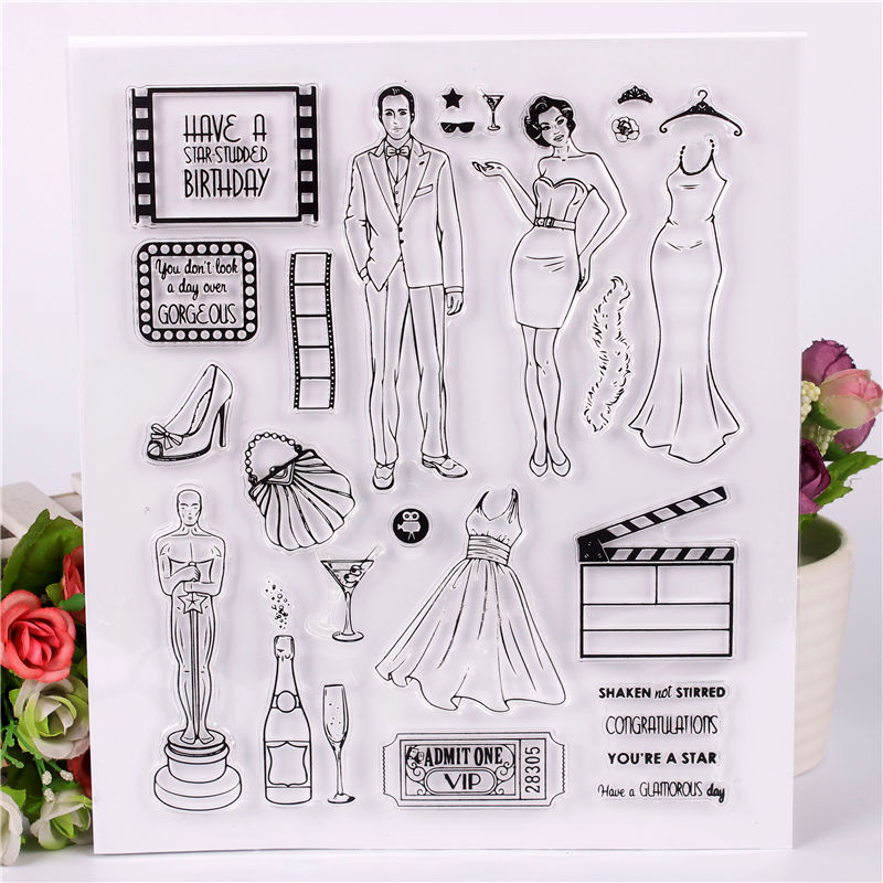 DLKSDIY Women's clothes bird Transparent Clear Stamp DIY Silicone Seals Scrapbooking / Card Making/Photo Album Decoration loving heart and ballon transparent clear stamp diy silicone seals scrapbooking card making photo album craft cl 285