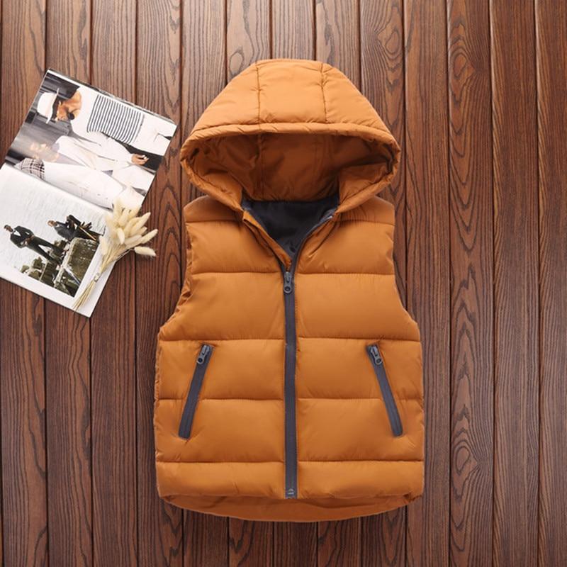 Autumn Children Warm Vest Kids Thicken Waistcoat Kids Outerwear Vest Children Clothing Teenager Boys Girls Hooded Jackets Vest (13)