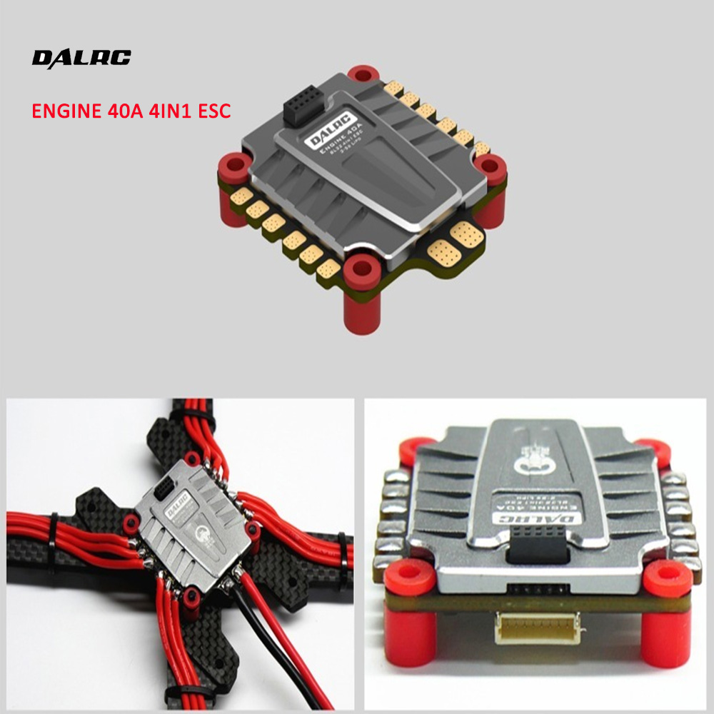 NEW DALRC 4IN1 ENGING 40A ESC 3-5S Blheli_32 4 in 1 ESC Brushless DSHOT1200 Ready w/ 5V BEC for RC Racing Drone Quadcopter Frame brushless esc for rc quadcopter plane 20amp 20a simonk firmware brushless esc w 3a 5v bec for rc quad multi copter