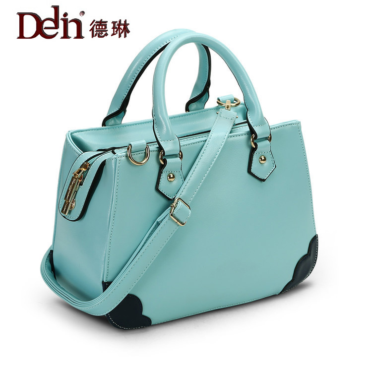 DELIN A female fashion trend on behalf of lovely simplicity and individuality soft portable Shoulder Messenger Bag