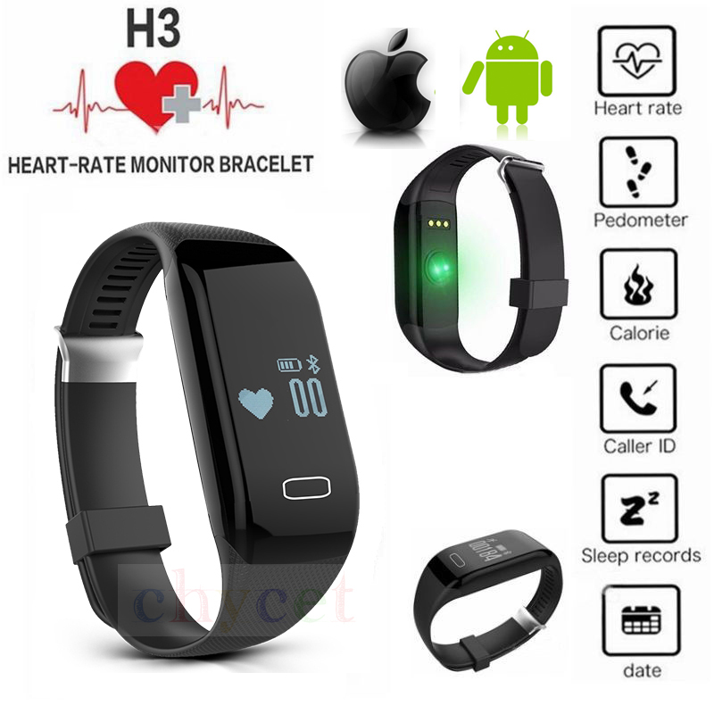 New H3 Smart Band Bracelet & Heart Rate Monitor Activity Fitness Tracker Wristba