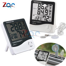 Stasiun Cuaca HTC-2 HTC-1 Indoor Outdoor Thermometer Hygrometer Digital LCD C/F Suhu Kelembaban Meter Jam Alarm HTC-8A(China)