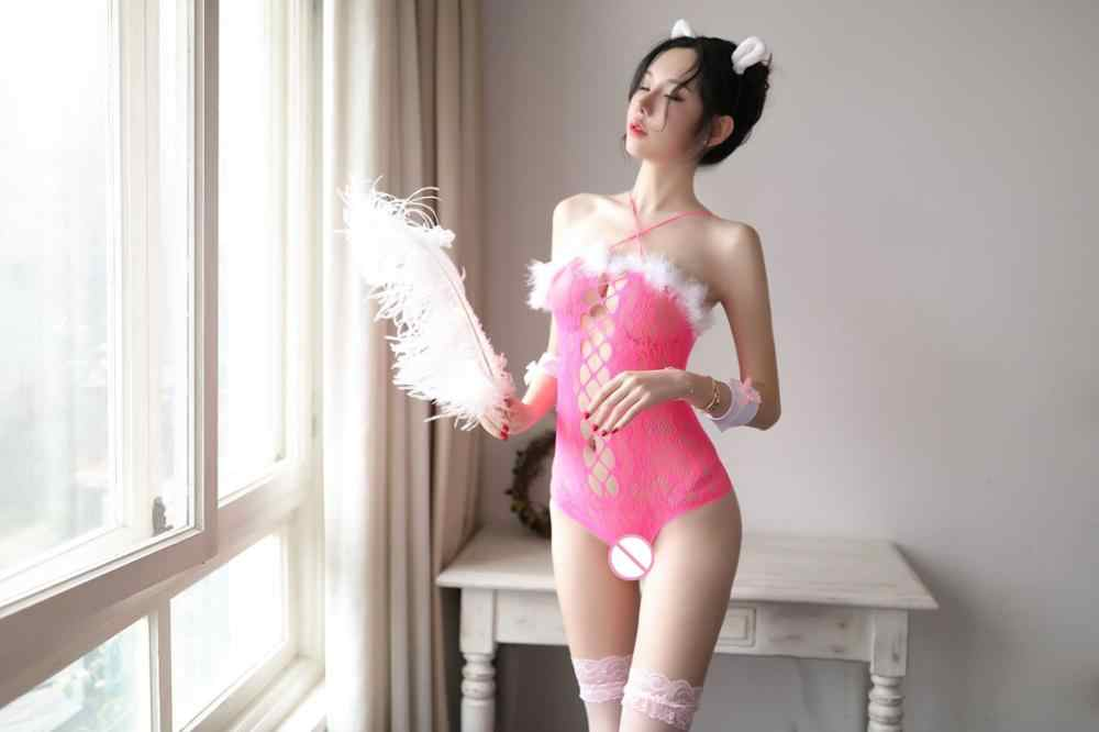 Банни девушки униформа костюмы для женщин сексуальное пикантное женское бельё нижнее белье искусственный мех выдалбливают эротический костюм секс ночное белье