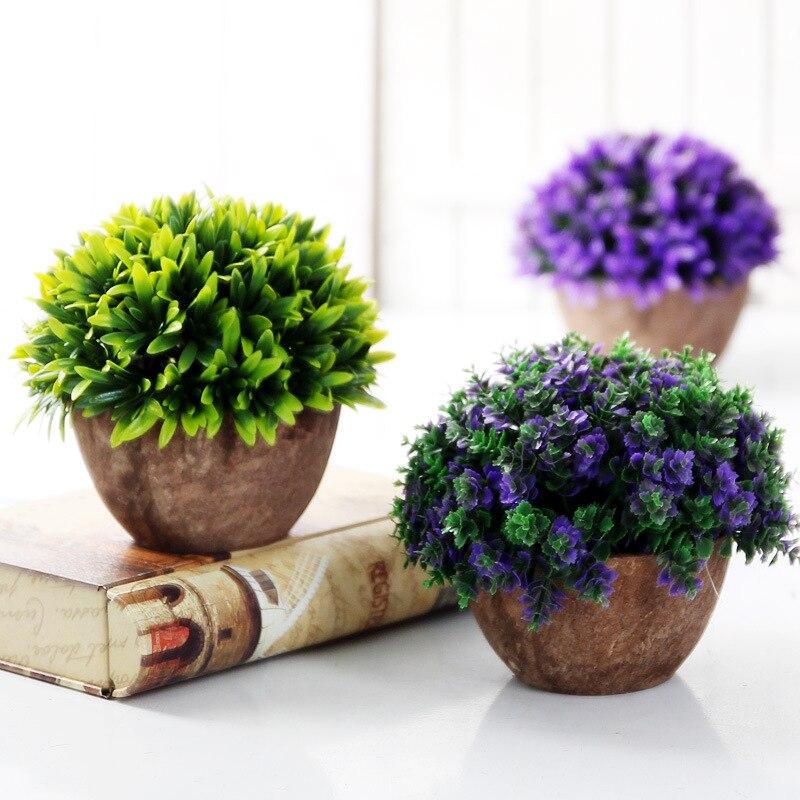 Caioffer Artificial En Maceta Flores Plantas Baratas Conjunto Florero Bonsai Dec