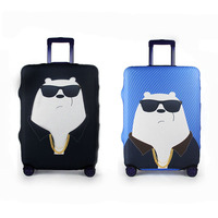 Cartoon Character Elastic Travel Luggage Cover Cute Thick Suitcase Protective Dust Rain Bags Accessories Supplies Products