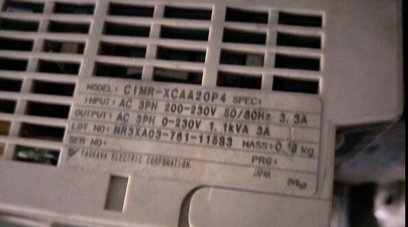Inverter CIMR-XCAA20P4 0.4KW 220V , Used one , 90% appearance new , 3 months warranty , fastly shipping plc cpl9210a used one 90