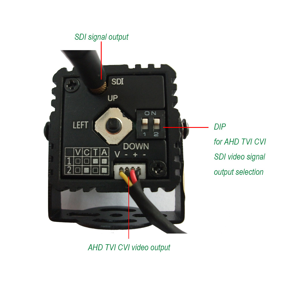 New mini camera EX-SDI SDI AHD CVI TVI Anlaog 6-In-1 Mini Camera 1080P CCTV Camera