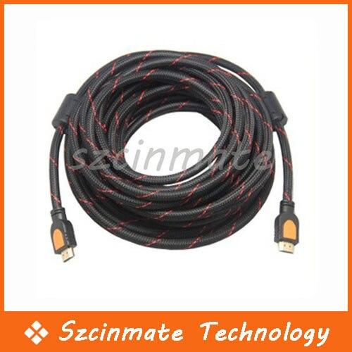 High Speed 5M 16.4 FT HDMI Cable 1.4 Ethernet 3D HDTV 1080p PS3 20pcs/lot Wholesale