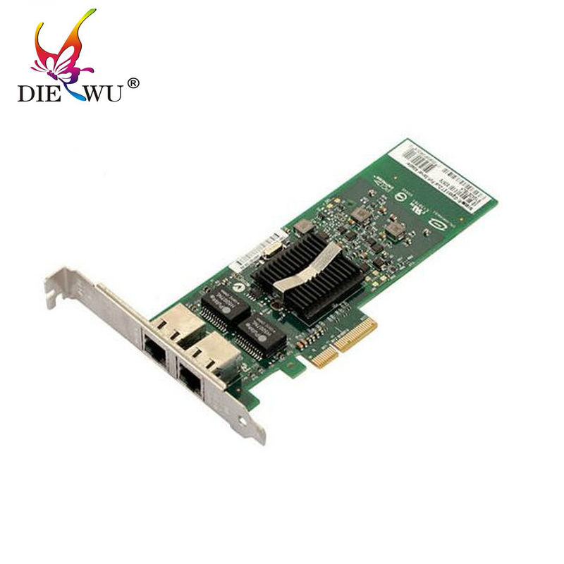 DIEWU RJ45  RJ-45 Dual port 82576 PCI Express  Gigabit Ethernet Server Adapter PCI-E Gigabit Ethernet  E1G42ET adaptador pci express dual port 10 100 1000mbps gigabit ethernet controller card server adapter nic expi9402pt 9402pt 82571