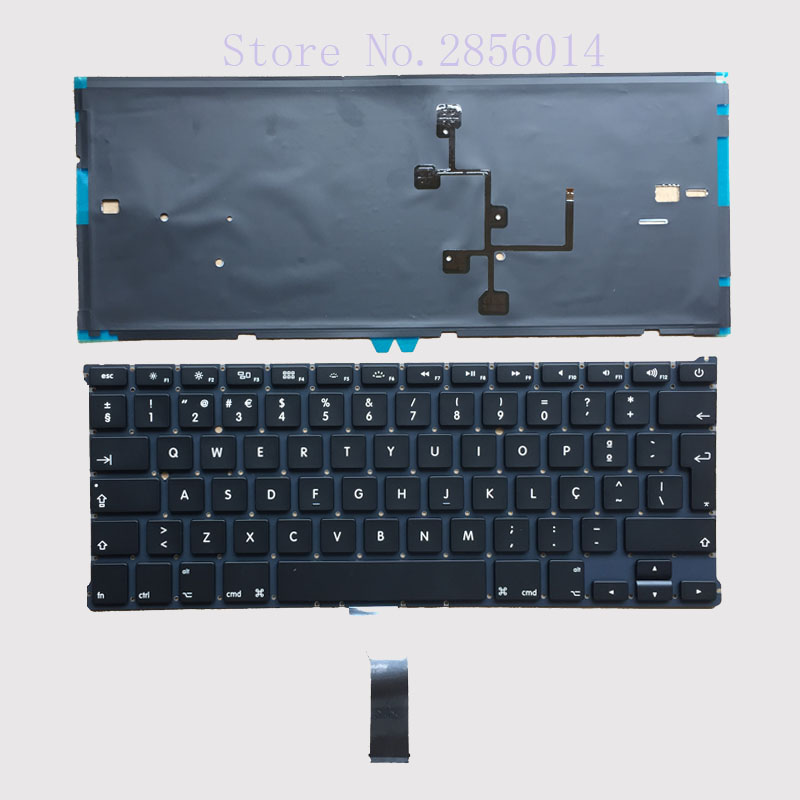 NEW Portugal Keyboard For Macbook Air 13 A1466 A1369 with backlight Laptop keyboard MD23 ...