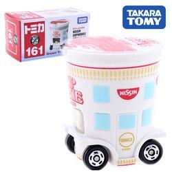 Takara tomy sonho tomica no.161 nissin cupnoodle carro modelo kit diecast quente brinquedos do bebê collectibles engraçado magia crianças bonecas