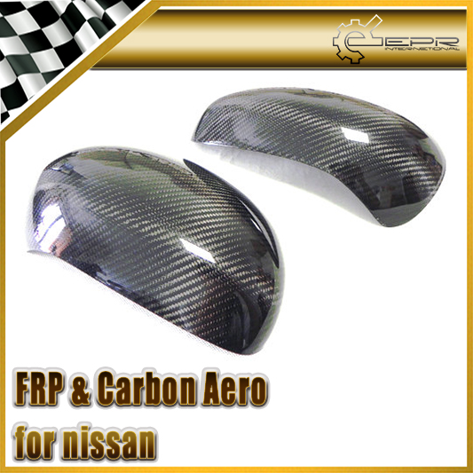 Car-styling For Nissan Juke F15 Carbon Fiber Side Mirror Cover Glossy Fibre Exterior Auto Body Kit Racing Accessories Trim