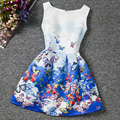 I LEEBAY Big Girl Butterfly Printed Dresses 2017 Summer Cotton Sleeveless Clothes for Girls Children Birthday Gift Vestidos