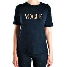 2016 sexy Summer top pp VOGUE Print t shirt Women brand crop tops harajuku tee pink shirt funny angel hipster femme black hiphop