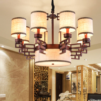 Chinese style Living room 9/11 heads chandelier restaurant chandelier copper iron bedroom modern retro lamps ZA81817