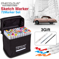 New 160 Color Marker Set 36 48 60 72 Design Mark Pen Animation Design Permanent Paint