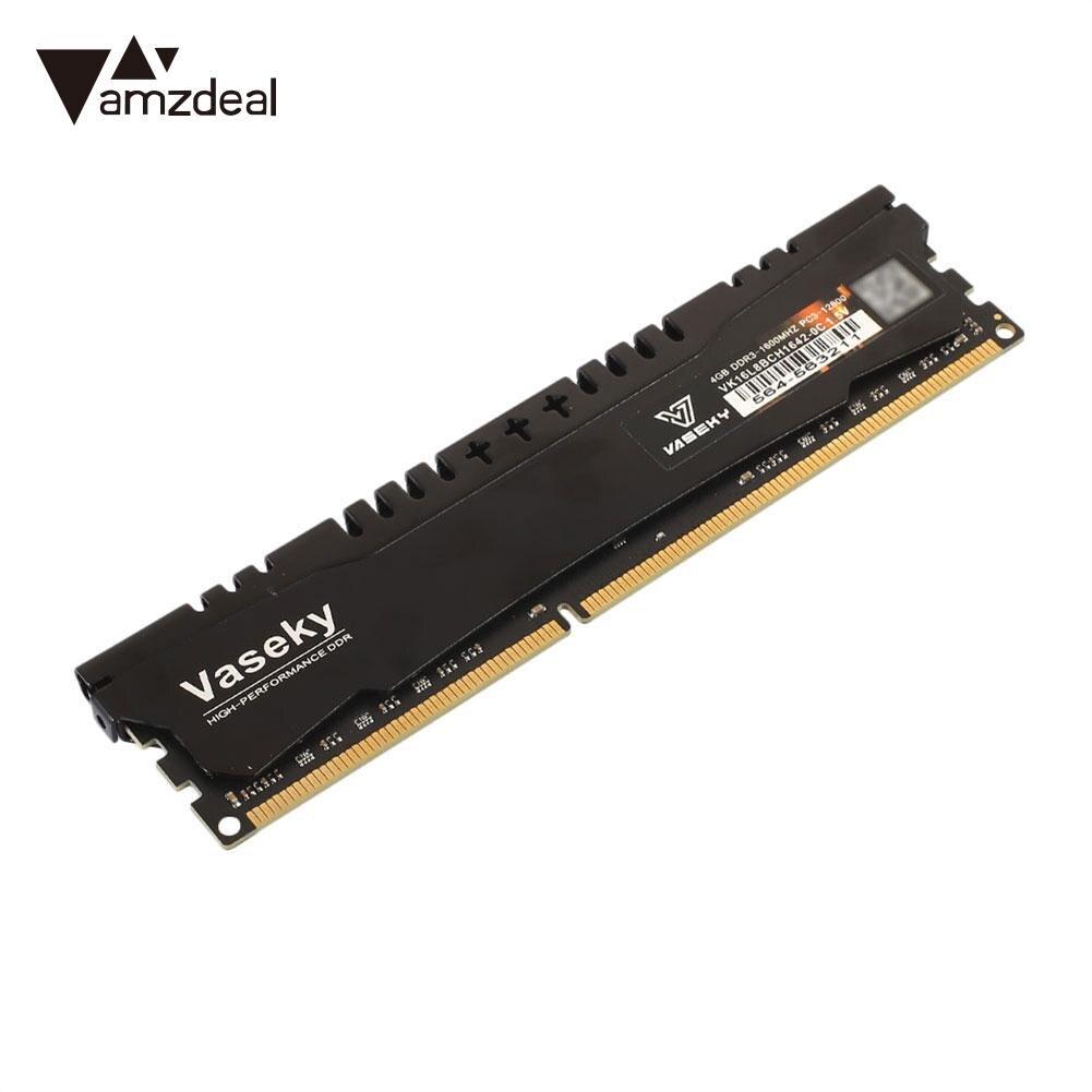 4 GB DDR3 1600 MHz Vaseky ram de bureau Module de mémoire haute vitesse pour le jeu DOTA