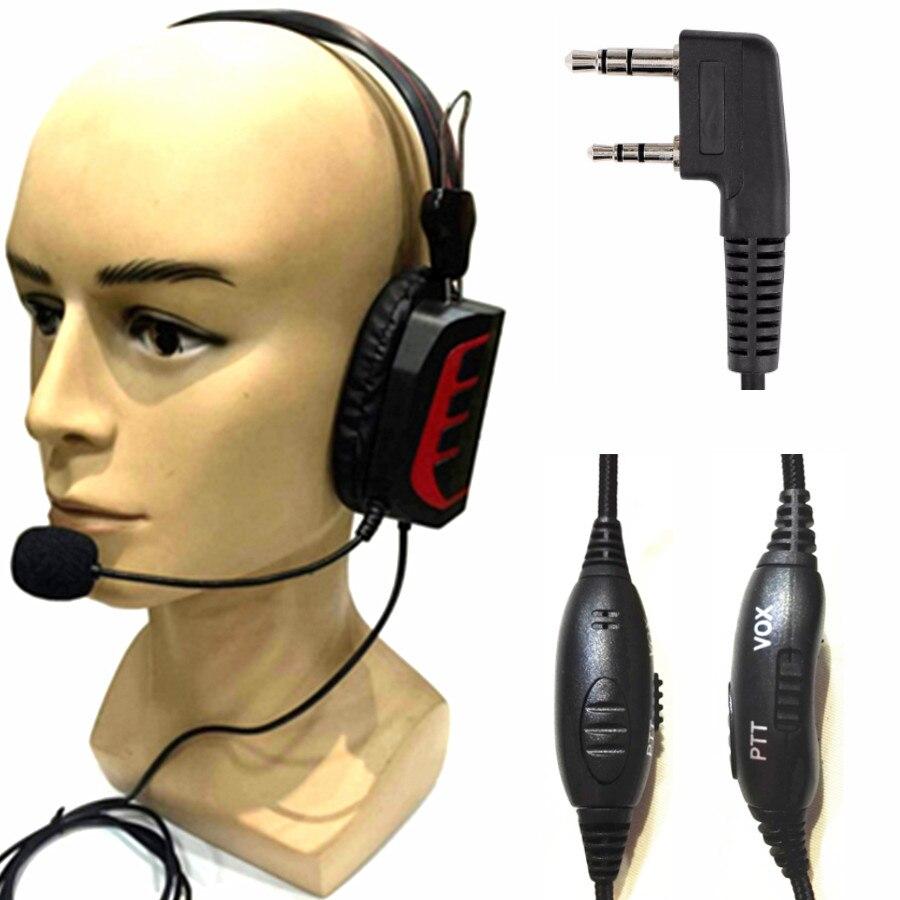 YIDATON advanced Intercom Headphones Volume Adjustable VOX-PTT Tactical Headphones   for baofeng for kenwood