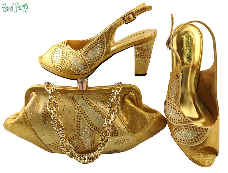New Style Shoe and Bag Women High Quality Italian Shoe and Bag Set Decorated with Rhinestone African Shoes And Bag MM1043 rhinestone decorated shoulder bag