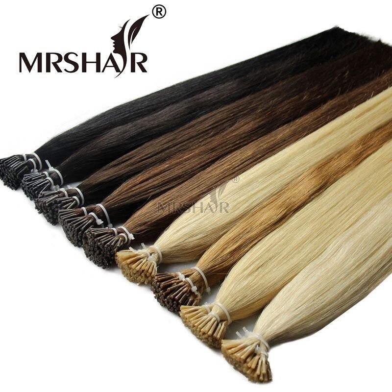 MRSHAIR Pre Bonded font b Hair b font Extensions I Tip 1g pc 16 20 24