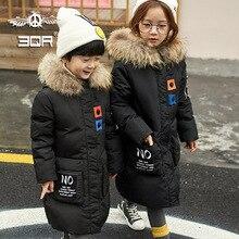 Дети пуховик мальчик одежды долго cuhk детей зимнее пальто из девушек