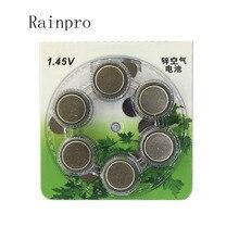 Rainpro 60 pz/lotto (10 CONFEZIONI) a675P 675 PR44P batteria Dellaria Dello Zinco per impianto cocleare Hearing Aid batteria Dellaria Dello Zinco