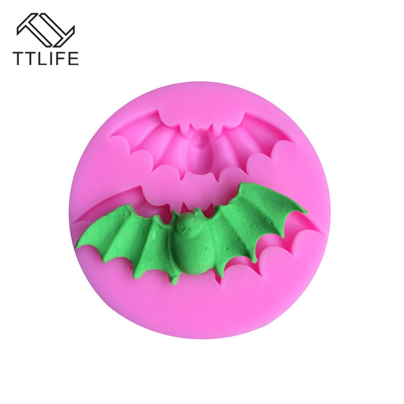 TTLIFE Halloween Bat Silicone Mold Fondant Cake Confeitaria Baking Mould Soap Cupcake Pastry Chocolate Cupcake Decorating Tools