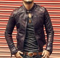 Brand Leather Jacket Men Slim Short Stand Collar Bomber Bike Jacket genuine Leather sheepskin Coat 2016