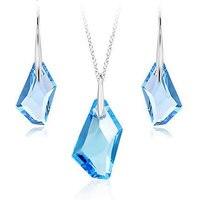 High quality blue crystal jewelry set