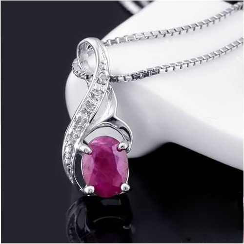 Ожерелье Qi Xuan_Red Stone Angel's кулон в форме капли Necklaces_Real necklaces_качество guaranteed_производитель напрямую