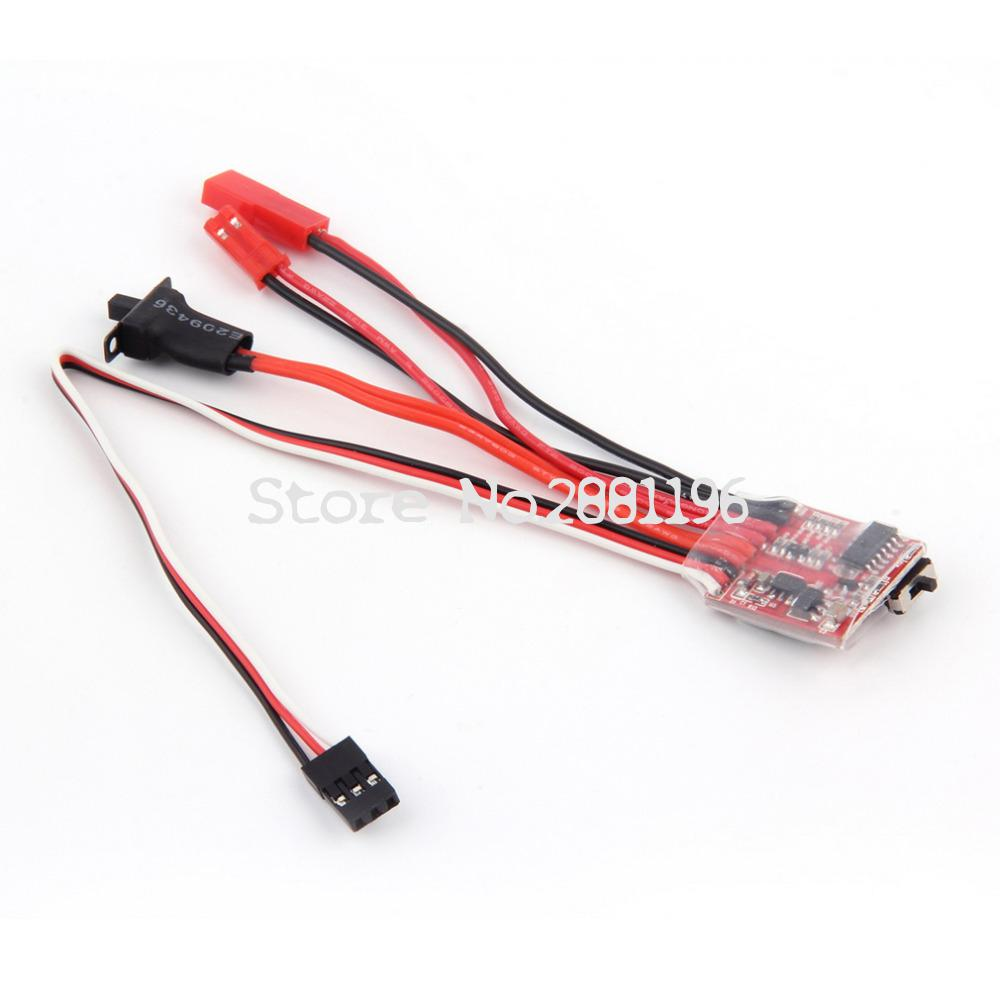 RC <font><b>ESC</b></font> 10A 20A <font><b>30A</b></font> <font><b>Brush</b></font> Motor Speed Controller w/ Brake for RC Car Boat Tank New Sale image