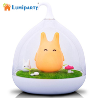 Lumiparty 2017 Hot 3 Modes Baby Bedside LED Desk Lamp Rechargeable Adjustable Touch Sensor Birdcage USB