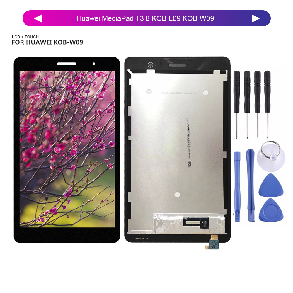 For 8.0Huawei MediaPad T3 8 KOB-L09 KOB-W09 LCD Display Digitizer Screen Touch Panel Sensor Assembly + Tools
