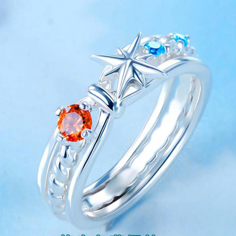 Makoto Shinkai Anime Your Name Tachibana Taki Miyamizu Mitsuha Comet Node Ring 925 Silver Sterling Christmas Gift Lovers JewelryMakoto Shinkai Anime Your Name Tachibana Taki Miyamizu Mitsuha Comet Node Ring 925 Silver Sterling Christmas Gift Lovers Jewelry