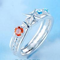 Makoto Shinkai Anime Your Name Tachibana Taki Miyamizu Mitsuha Comet Node Ring 925 Silver Sterling Christmas Gift Lovers Jewelry