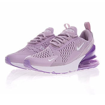 Original New Arrival Authentic Nike Air Max 270 Women's Running Shoes Sneakers Purple White Shock Absorption Non-slip Breathable 1
