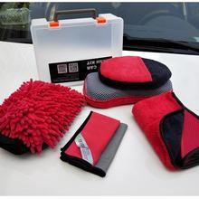 Dragonpad 7 шт./компл. комплект для чистки автомобиля мягкие многофункциональные инструменты аксессуары для чистки автомобиля