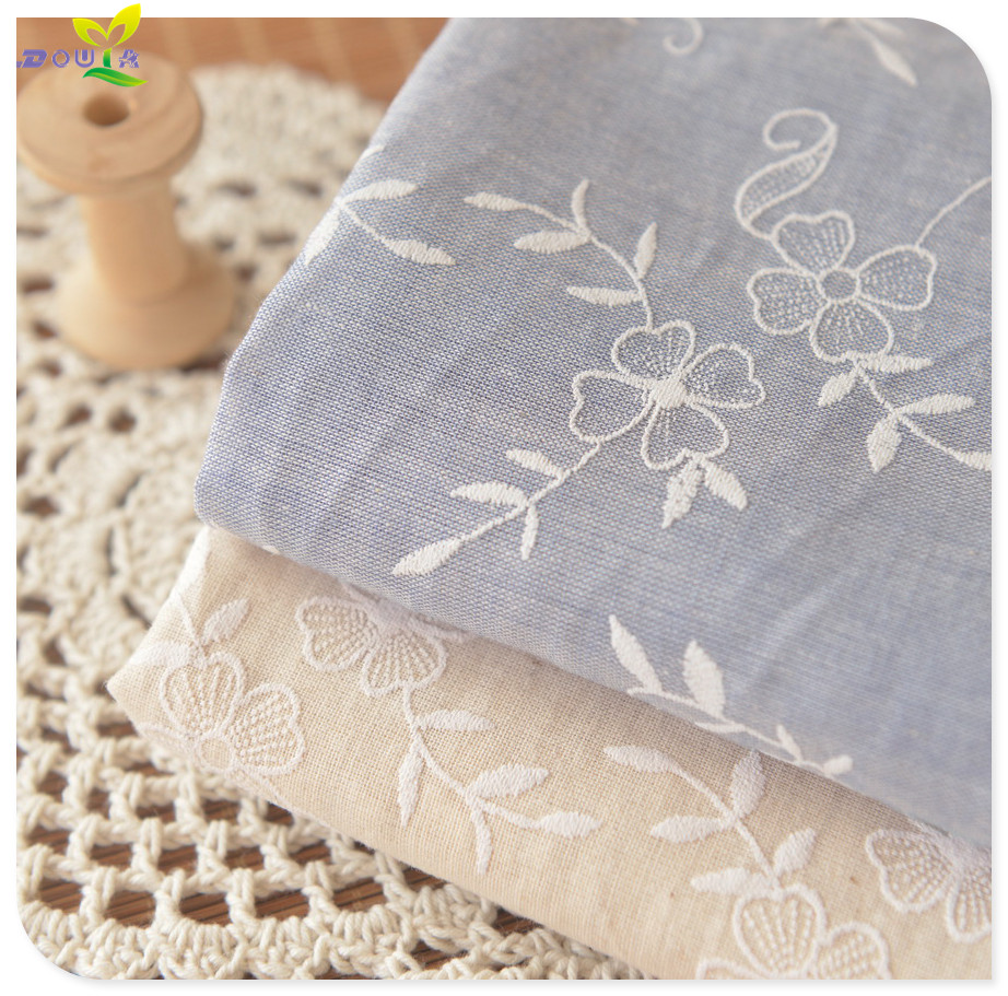 0 5m Beige Blue White Muslin Dress Garment Branch Han Ru Qu