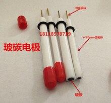 Стеклоуглерод, 3 мм, 4 мм стеклографитовый электрод/полировальная ткань 3 мм