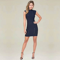 2018 New Arrival Fashion Sleeveless Bandage Dress Celebrity Lace Up Bodycon Night Out Party Dresses Casual