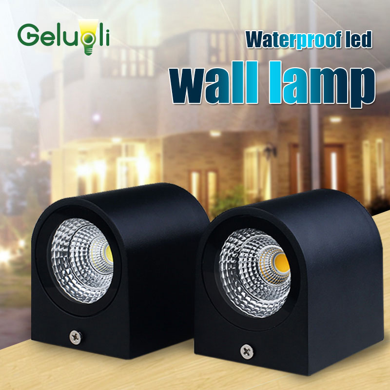 Waterproof Outdoor wall lighting Led Wall lamp,Surface Wall Mouted Led Wall Sconce 3W 85 265V