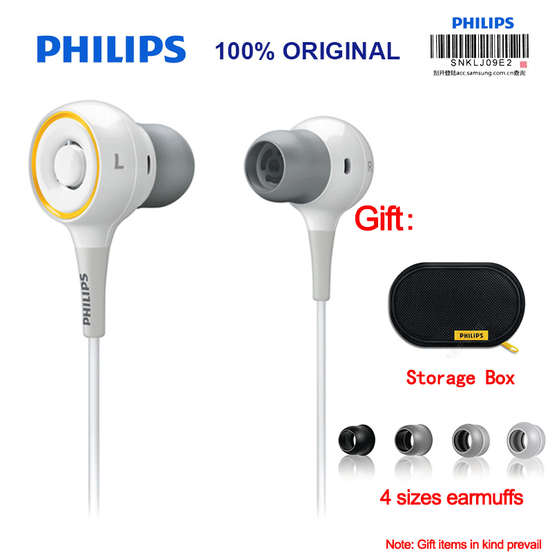 Philips SHE6000 Sport Headset In-Ear Running Earphone with Bass Stereo 1.2m Cable Length for Huawei Xiaomi Galaxy With Free gift