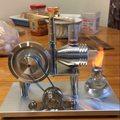 Experimento motor Stirling generador de motor de generación de Energía del generador