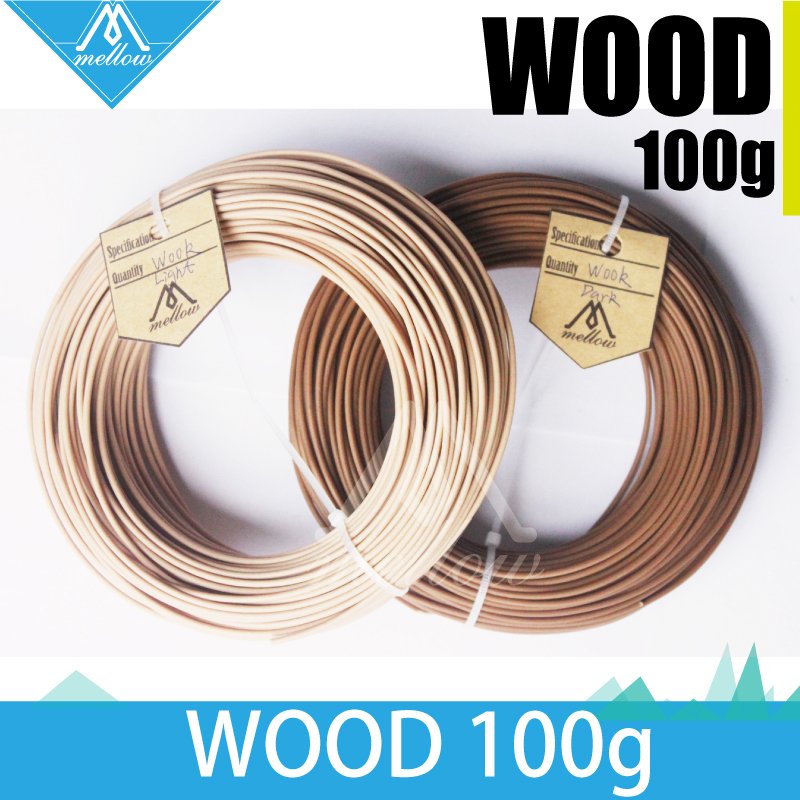 100g 3D Printer Wood Filament 1.75 MM Filament 100g ABS PLA PA PVA HIPS for MakerBot Flash Forge